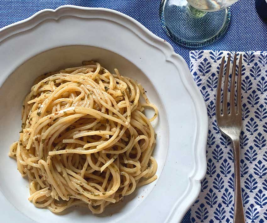 ラ・プロンタ からすみのスパゲッティ レモン風味